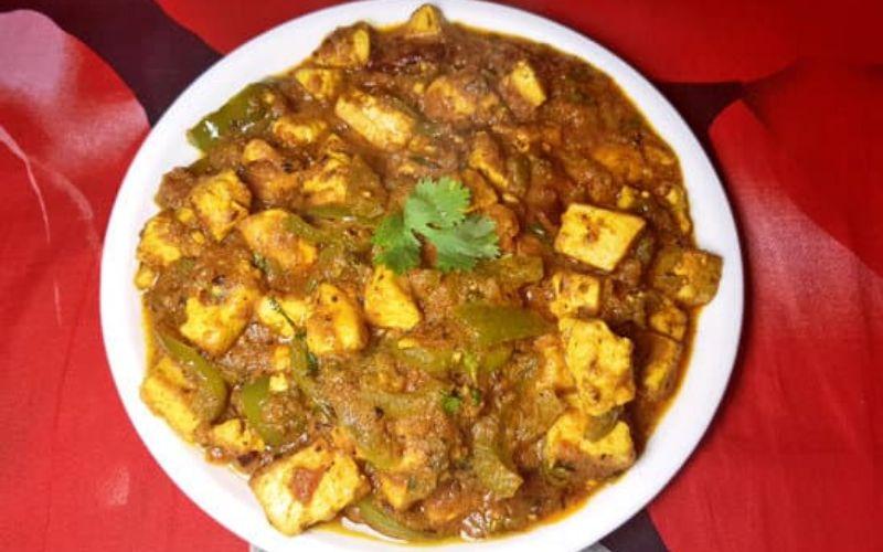 पनीर शिमला की सब्जी रेसिपी