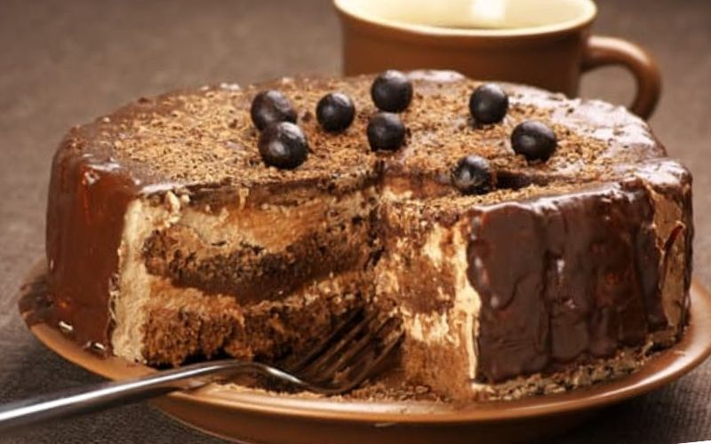 बिस्कुट केक